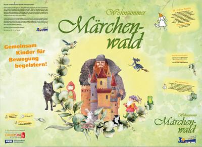 3F-Bewegungsplakat Wohnzimmer-Märchenwald