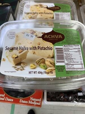Achva Halva With Pistachios