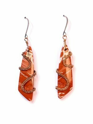 Captured Fire Earrings