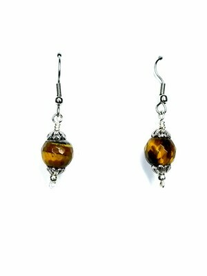 Golden Tiger Eye Drop Earrings