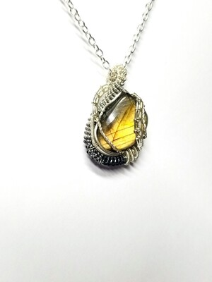 Golden Labradorite Leaf