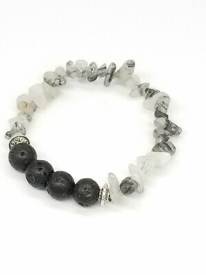 Rooted In Black And White Bracelet