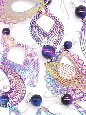 Rainbow Nebula Earrings