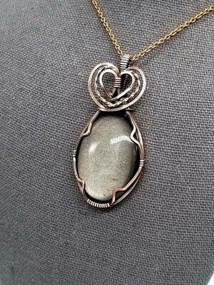 Love in Silver Sheen Obsidian