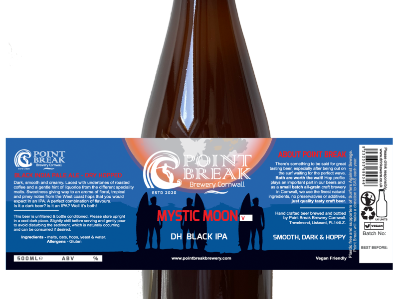 MYSTIC MOON - DH BLACK IPA V3 - 500ml - 5.7% ABV