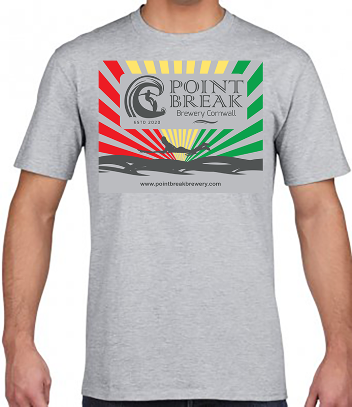 POINT BREAK GREY T-SHIRT FITTED -  HIGH QUALITY COTTON - VINYL PRINTED