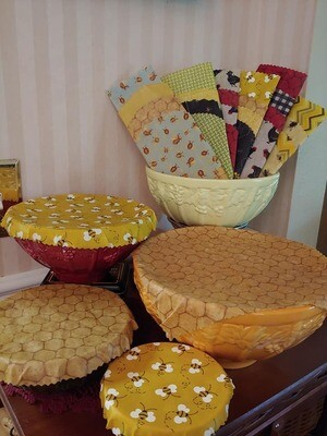 Reusable Bees Wax Covers/ CCQ