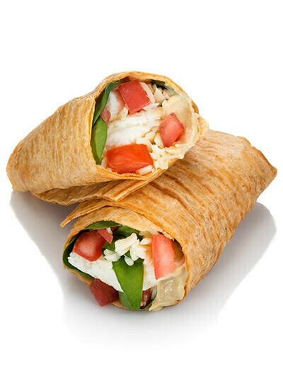Egg White Veggie & Hummus Wrap