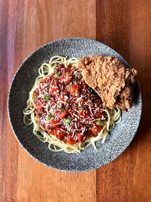 Fried Chicken & Spaghetti