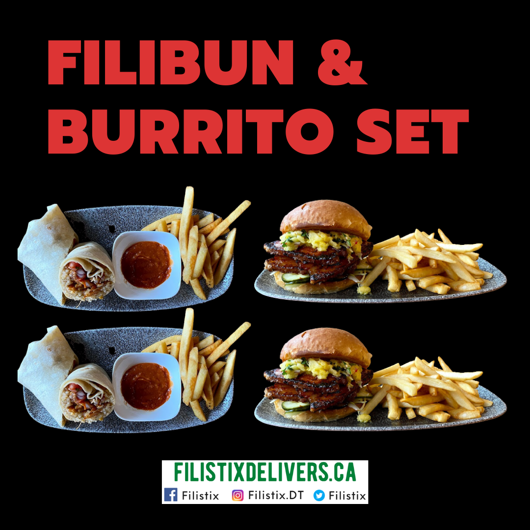Filibun & Burrito Set: 2 Pork Belly Filibuns & 2 Burritos