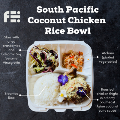 South Pacific Coconut Chicken Bowl