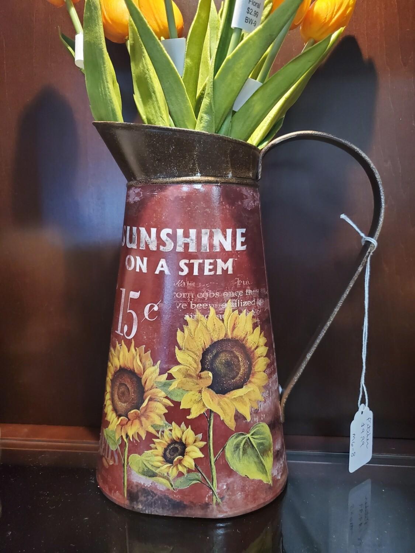 Metal Pitcher Vase