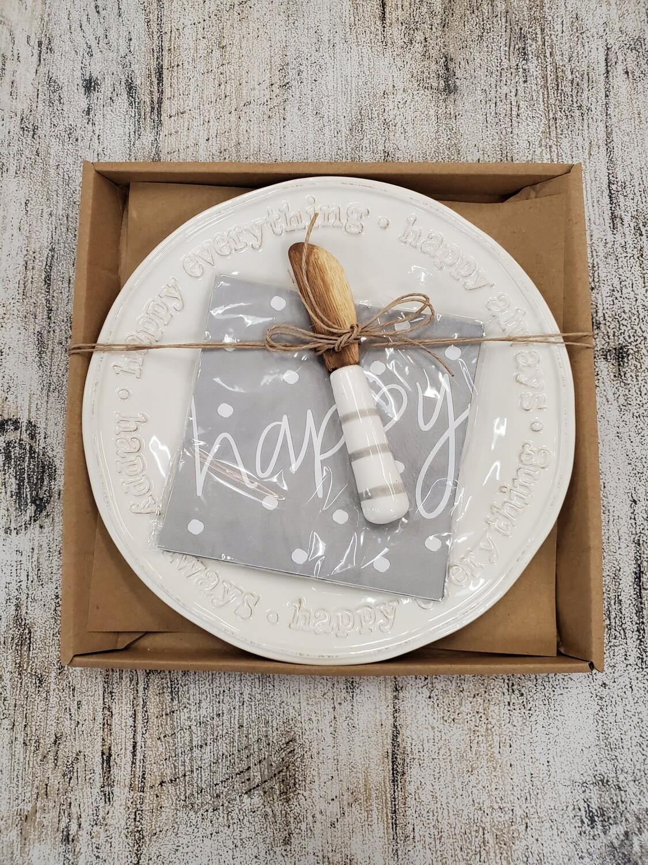 Happy Platter Gift Set
