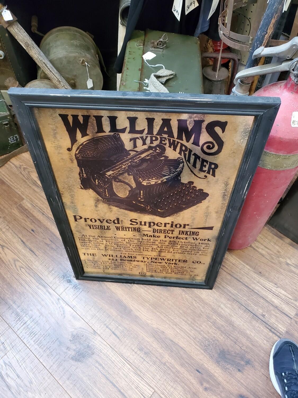 Williams Typewriter Sign