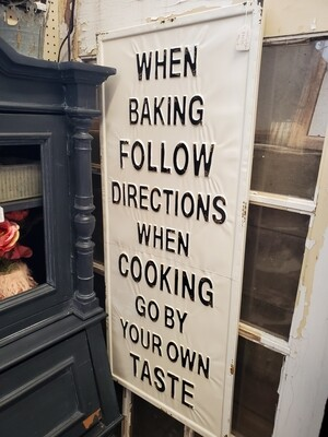 Baking Sign