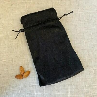 Velvet Drawstring Bag Black