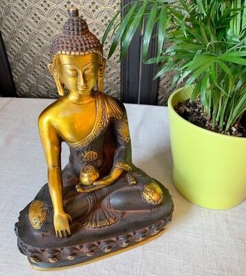 "Brass Buddha 9.5"""
