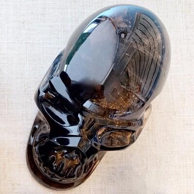 Smokey Quartz Skull Shape