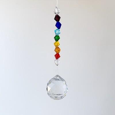 Suncatcher Clear Crystal Sphere Chakra Beads 30mm