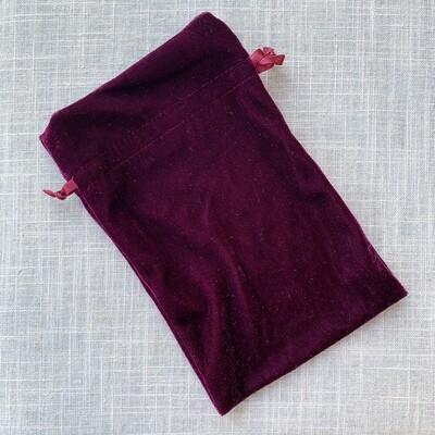 Velvet Drawstring Bag Burgundy