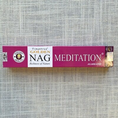 Golden Nag Champa Meditation Incense