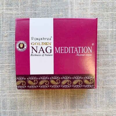 Golden Nag Champa Meditation Incense Cones