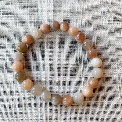 Peach Moonstone Bracelet 8MM