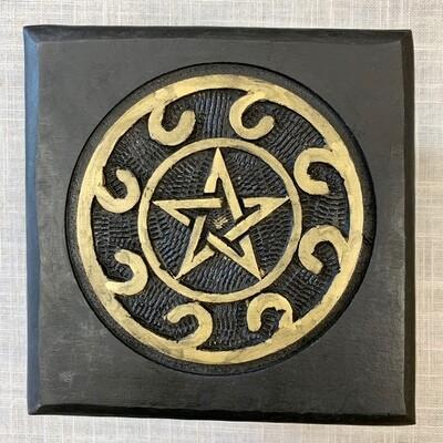 Wood Pentagram Altar
