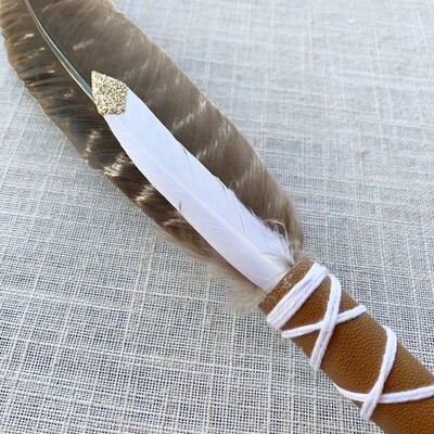 Smudge Feather ~ Gold