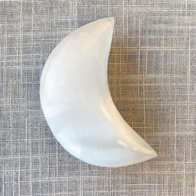 Selenite Moon Shape