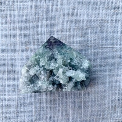 Fluorite Point with Raw Base