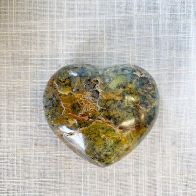Ocean Jasper Green Opal Heart