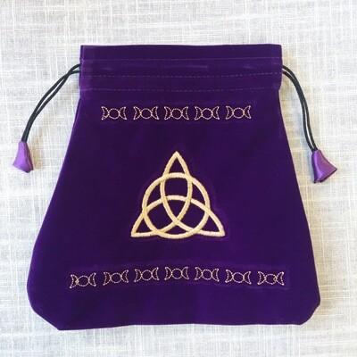 Velvet Drawstring Bag Triple Goddess