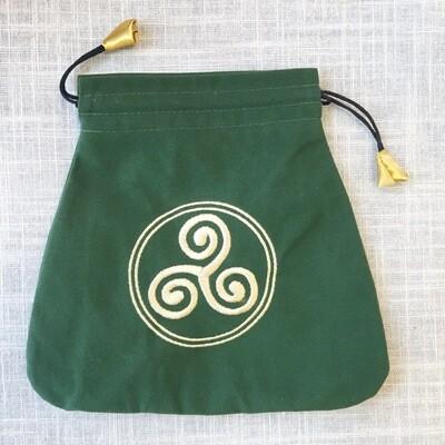 Velvet Drawstring Bag Celtic Triskel