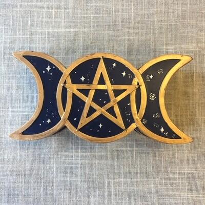 Triple Moon Trinket Box