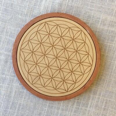 Flower of Life Cork Grid Template