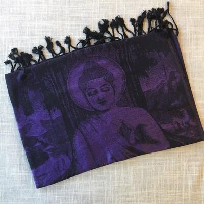 Buddha Purple Shawl