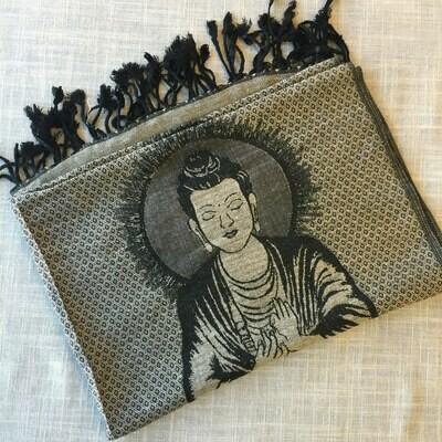 Buddha Gray Shawl
