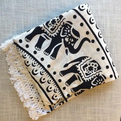 Mandala Cotton Tapestry Round