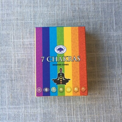 7 Chakra Green Tree Incense Cones