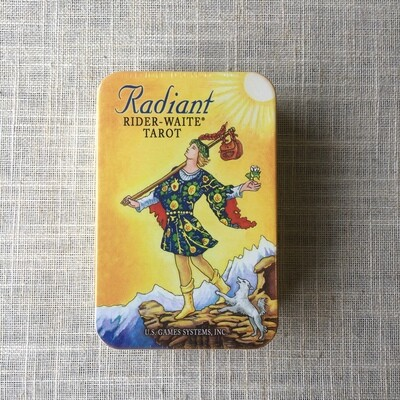 Radiant Rider-Waite Tarot Deck in a Tin