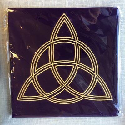 Triple Goddess Velvet Cloth Altar Card Readings