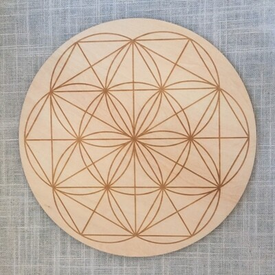 Seed of Life Cork Grid Template