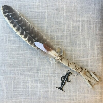 Smudge Feather ~ Light Gray