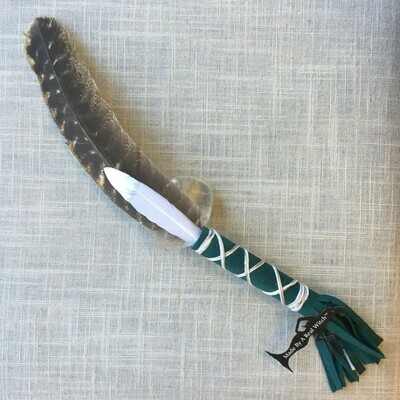 Smudge Feather ~ Teal