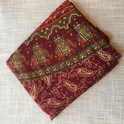 Cotton Tapestry Burgundy