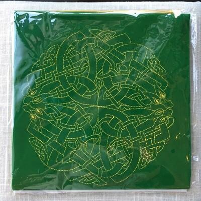 Velvet Tarot Cloth Altar Celtic Labyrinth Card Readings
