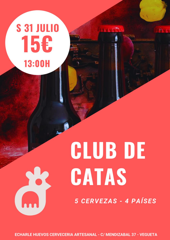 CLUB DE CATAS en nuestra terracita S 31 JULIO