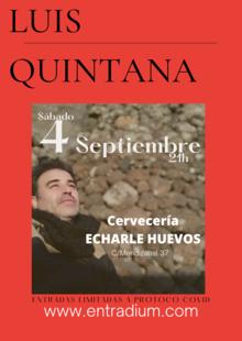 LUIS QUINTANA EN CONCIERTO - S 4 SEPTIEMBRE 20.00H