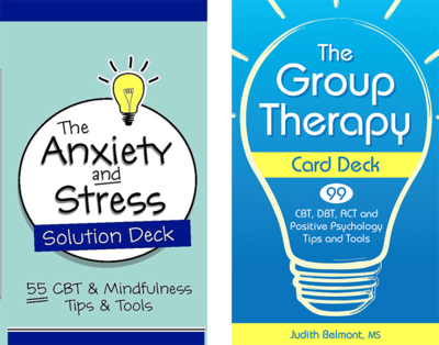 The Anxiety and Stress Solution Deck and the Group Therapy Deck